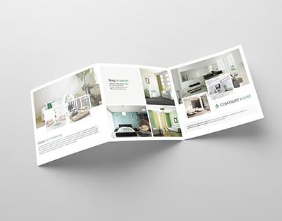 Square Tri-fold Interior Brochure