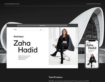 Zaha Hadid Landing Page