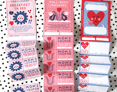 Mom's Coupon - Mother's Day paper-craft gift