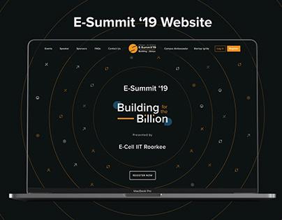 E-Summit' 19 Website