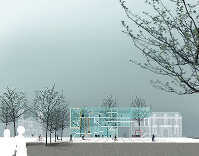 Architectural Project Render Multifunctional Art Cente