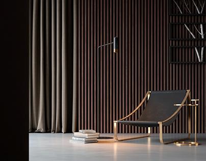 3D render concept, Armchair Style