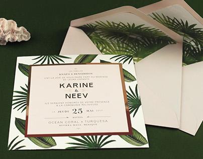 Wedding Invitations - Karine & Neev
