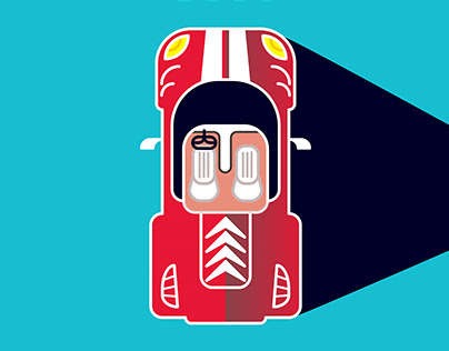Racer - Minimal illustration series