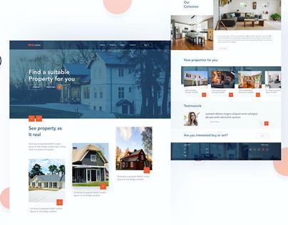 Homepage - Real estate website