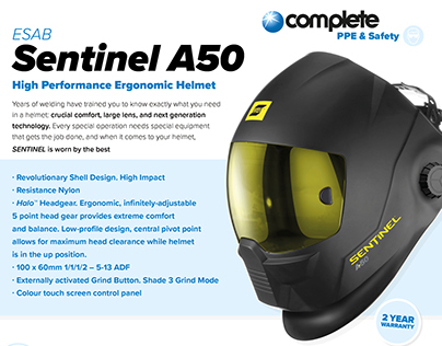 Sentinel Helmet Offer Flyer