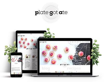 Plategotate Food Blog Website Design