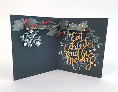Eat, Drink and Be Merry Pop-Up Card