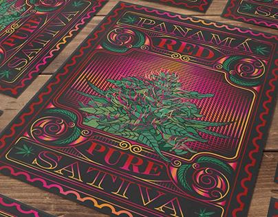 Panama Red Cannabis Design