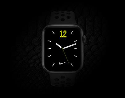 Black Mamba Nike Watch Face UI Design