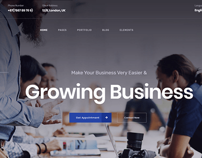 Finance Consulting and Insurance Website Template