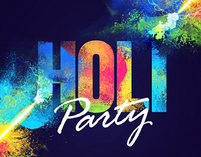 Holi On The House. promotion Banner