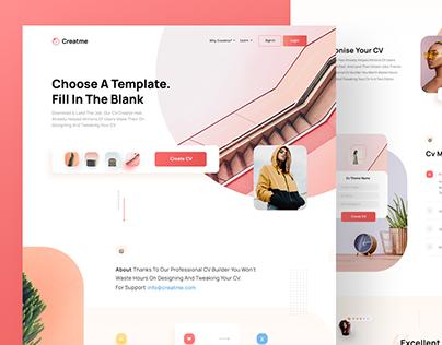 Creatme-Cv Creation Web Page
