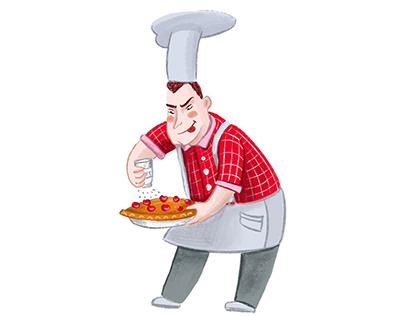 Treacherous cook - сharacter Design