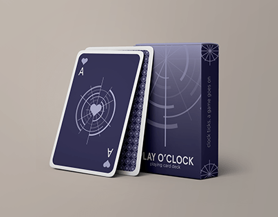 PLAY O' CLOCK - Playing Card Deck Design