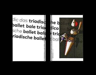 Ballet Bauhaus de Colorir
