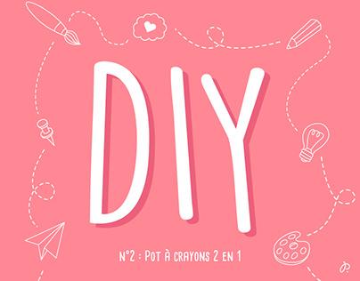 #2 Mon pot à crayons 2 en 1 - DIY