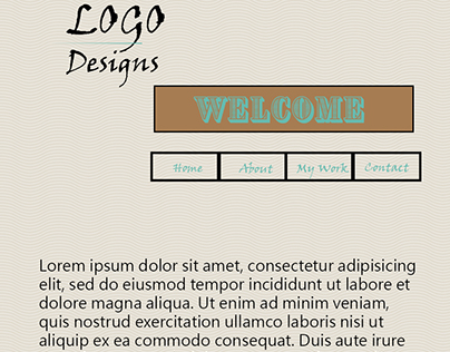 First try at a Website homepage