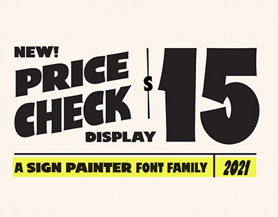 Price Check - A Sign Painter Display Font