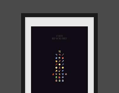 """""""Inventory"""" Zelda Print"""