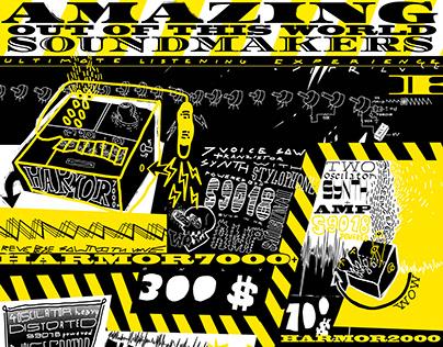 Amazing soundmakers poster/illustration design