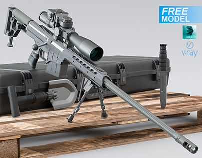 Free 3d model Barrett M98 Bravo