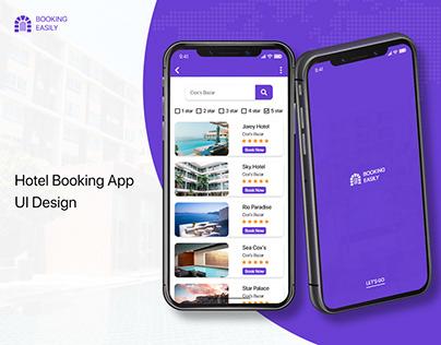 Hotel Booking App Design | Hotel App UI