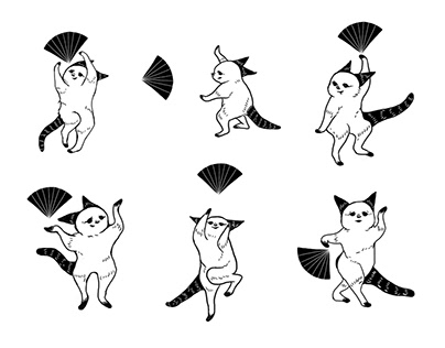 japanese dancing cats