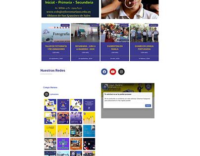 Colegio Mariano Wordpress Website Relooking