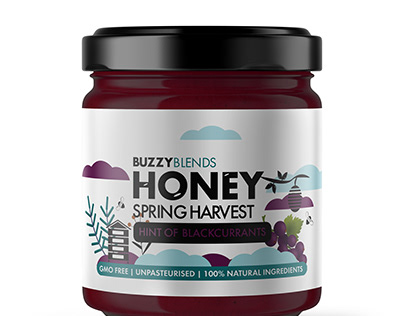 Buzzy Blends Honey Infusion Label Design