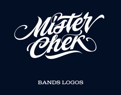 Logotypes for bands