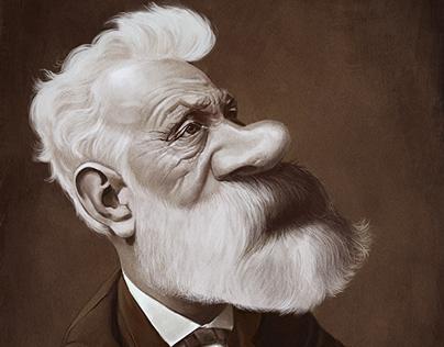 Jules Verne caricature