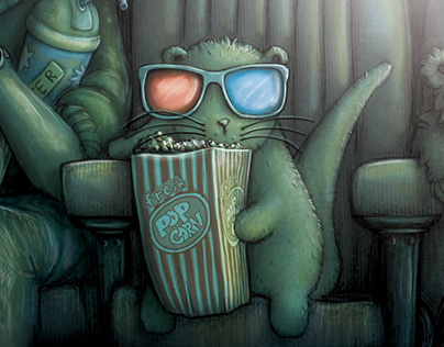 Otter Goes To See Jurassic World