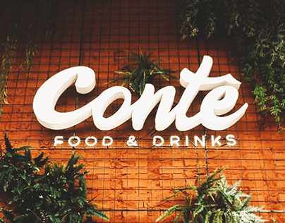 Contê Food & Drinks - Restaurant Branding