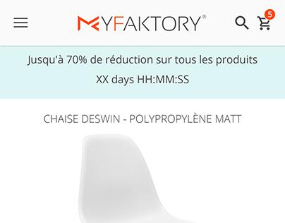 MyFaktory mobile UI