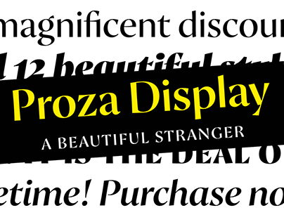 Proza Display Typefamily