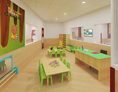 Diseño de Escuela Infantil Perezosos