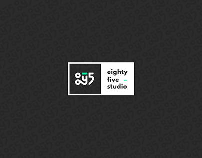 8y5 studio brand identity