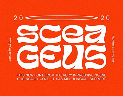 Sceageus Typeface