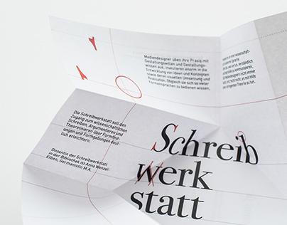 Posterserie und Flyer Schreibwerkstatt