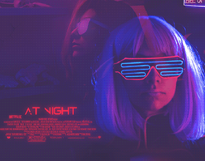 """At Night """" Poster """""""