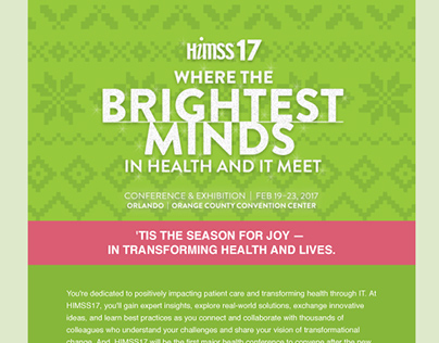 HIMSS17 Holiday Campaign Email Newsletter