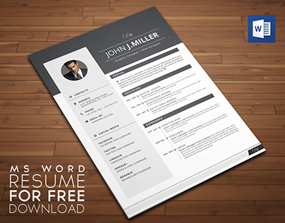 FREE MS WORD RESUME