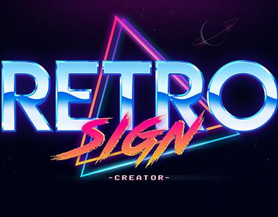 Retro Sign Creator Photoshop