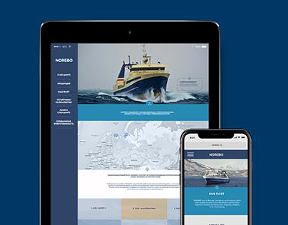 Дизайн сайта для группы компаний «НОРЕБО» / web design