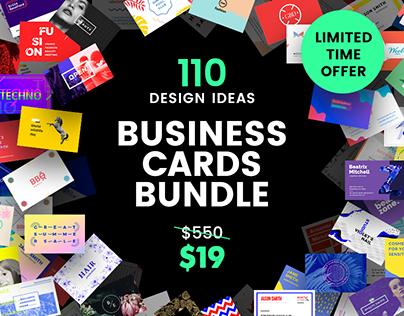 110 in 1 Business Card Design Templates Bundle