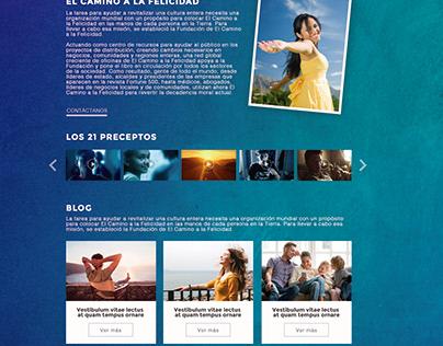 Diseño para sitio web: El Camino de la Felicidad