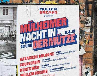 "Poster ""Müllem Breaks x Mülheimer Nacht 2019"""