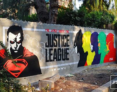 Justice League Graffiti