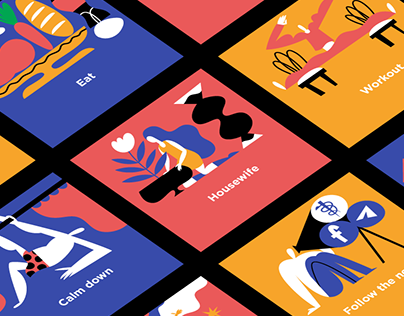 Series of illustrations «Better at home»